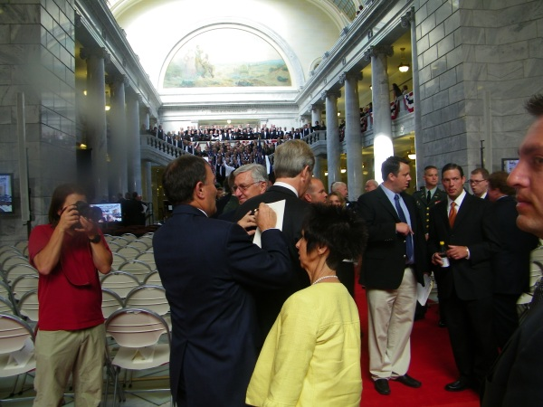 Almost- Governor Herbert signing autographs
