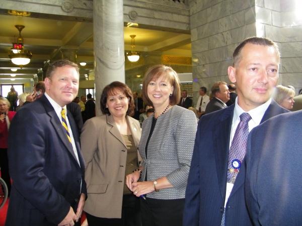 Rep Craig Frank, Rep Becky Lockhart, Kim Frank, Rep Paul Ray