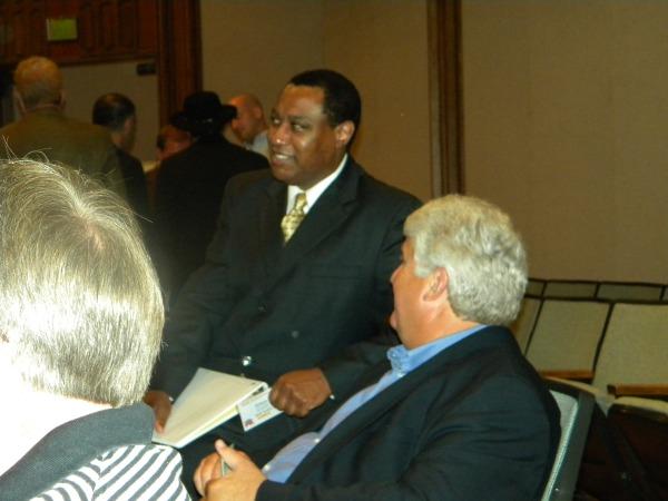 Congressman Bishop and James Evans
